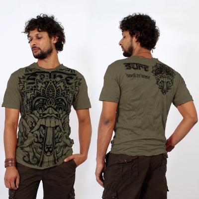 "T-shirt ""Bali Dragon"", Vert kaki"