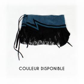 """Jupe """"Wave"""", Bleu pétrole et Noir"""