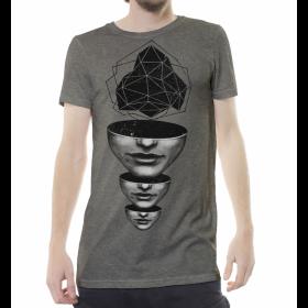 "T-shirt ""Master Mind"", Beige chiné"