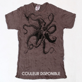 "T-shirt ""Octopus"", Taupe"