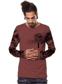 "T-shirt manches longues ""Gunzerker"", Bordeaux"