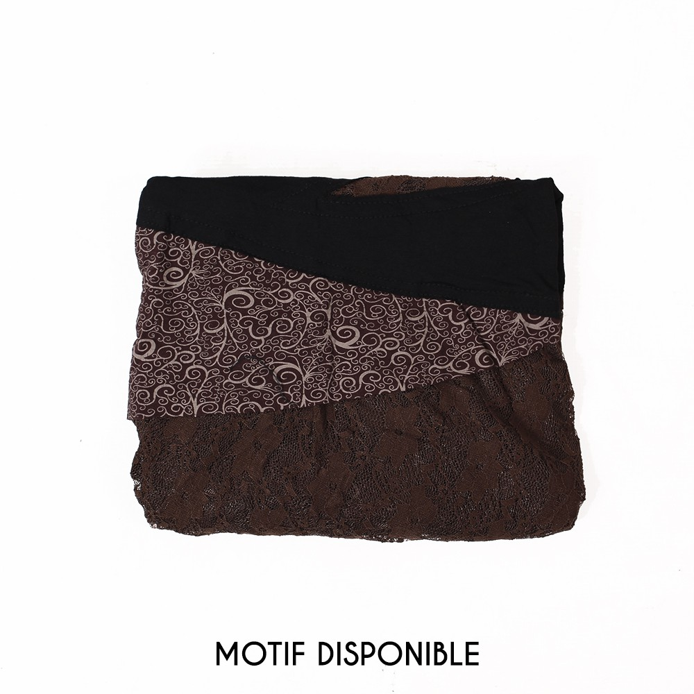 "Robe ""Tarmy"", Noir marron"