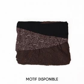 "Robe ""Tarmy"", Noir marron"