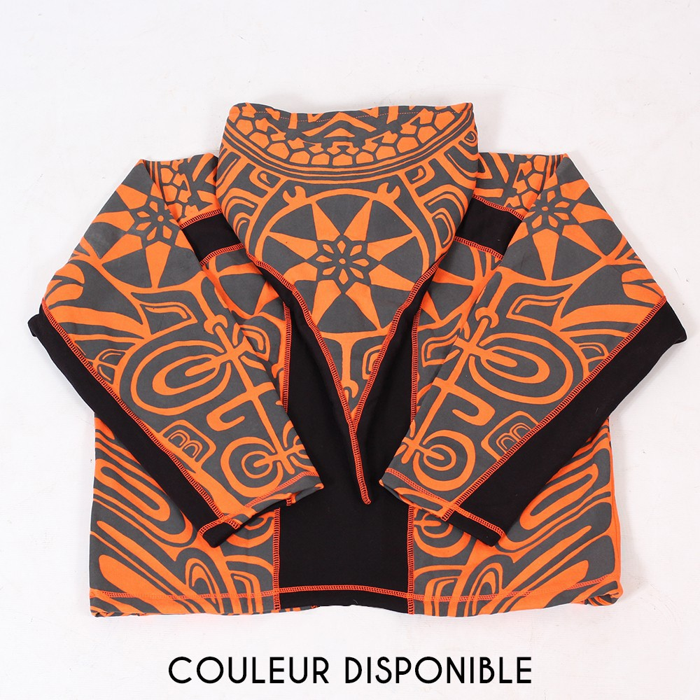 "Veste lutin ""Skywalker Haida"", Orange et noir"