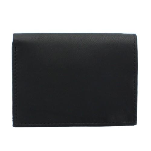 Porte-cartes en cuir, Noir
