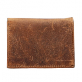 Porte-cartes en cuir, Marron