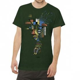 "T-shirt ""Sit Up"", Vert forêt"