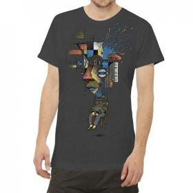 """T-shirt """"Sit Up"""", Gris foncé"""