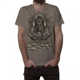 "T-shirt ""Jinpa"", Marron clair"