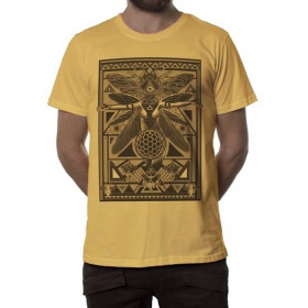 """T-shirt """"Queen B"""", Moutarde"""