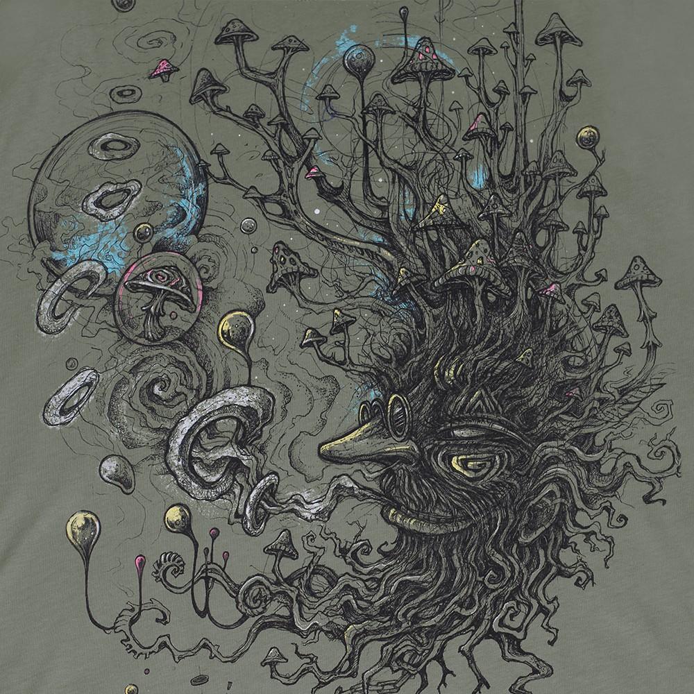 """T-shirt """"Shroombeard"""", Vert clair"""