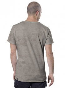 "T-shirt ""Little bro"", Beige chiné"