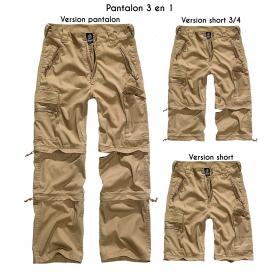 """Pantalon treillis 3in1 """"Cargo Savannah"""", Beige"""
