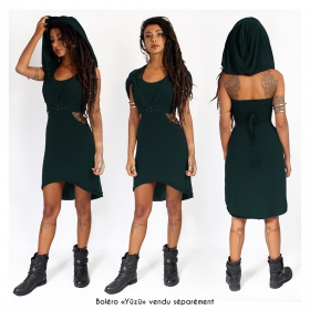 "Robe courte ""Sheherazade"", Vert canard"