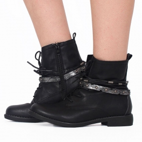 "Bottines ""Unyen"", Noir"