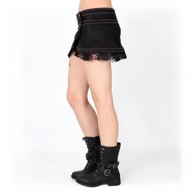 "Mini jupe ""Wrap Amrita"", Noir"