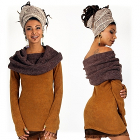 "Pull ""Mantra"", Rouille et marron"