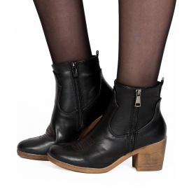 "Bottines ""Dasmaya"", Noir"