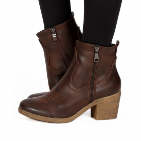 "Bottines ""Dasmaya"", Marron"