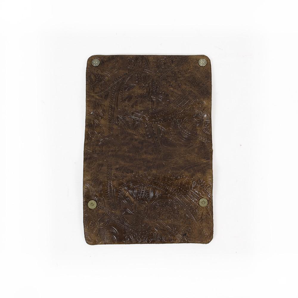 "Blague à tabac en cuir avec motifs ""Kavatza"""