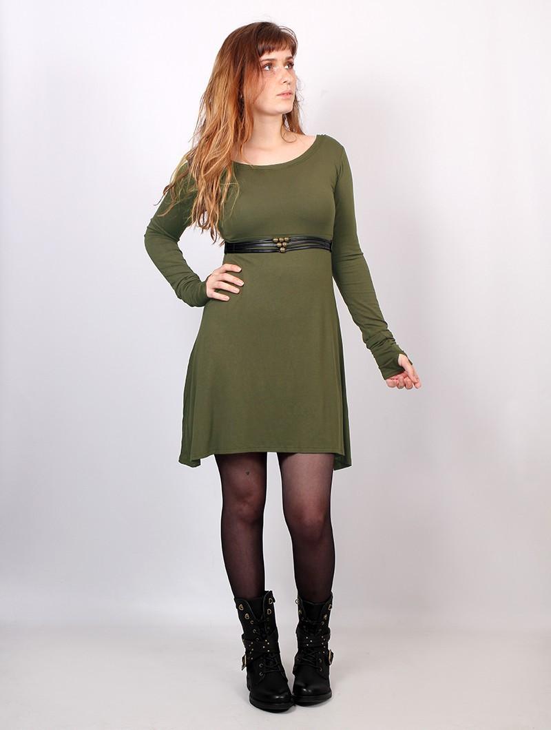 "Robe ""Ysïaa"", Vert kaki"