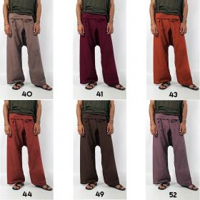 """Pantalon de pêcheur unisexe """"Thaï"""", Couleurs au choix"""