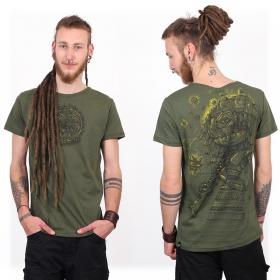 "T-shirt ""Cubina"", Vert kaki chiné"