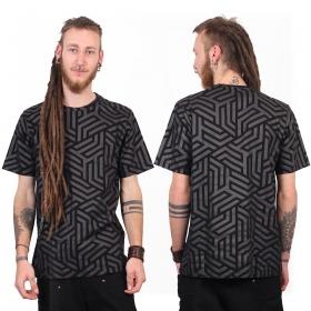"T-shirt ""Labyrinth"", Noir"