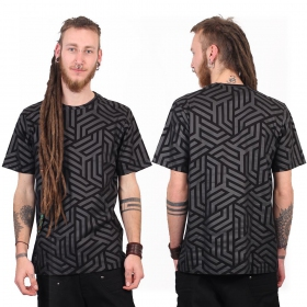 "T-shirt ""Labyrinth"", Noir"