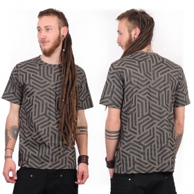 "T-shirt ""Labyrinth"", Gris"