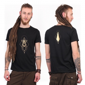 "T-shirt ""Scarab spirit"", Noir et Or"