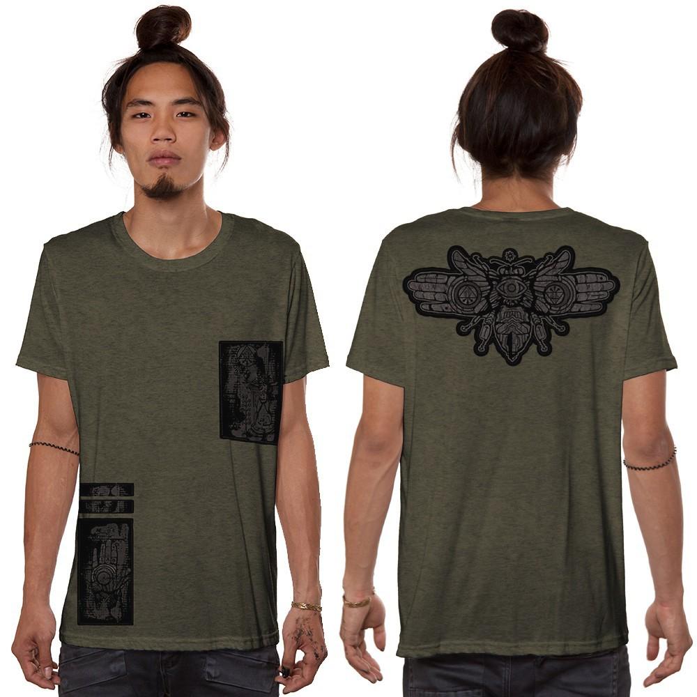 "T-shirt ""Amarth"", Vert kaki chiné"