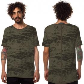 """T-shirt """"Treeping"""", Vert kaki et noir"""