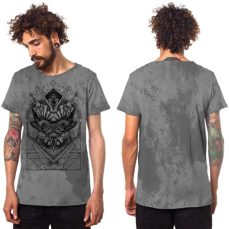 "T-shirt ""Beaker"", Gris tacheté"