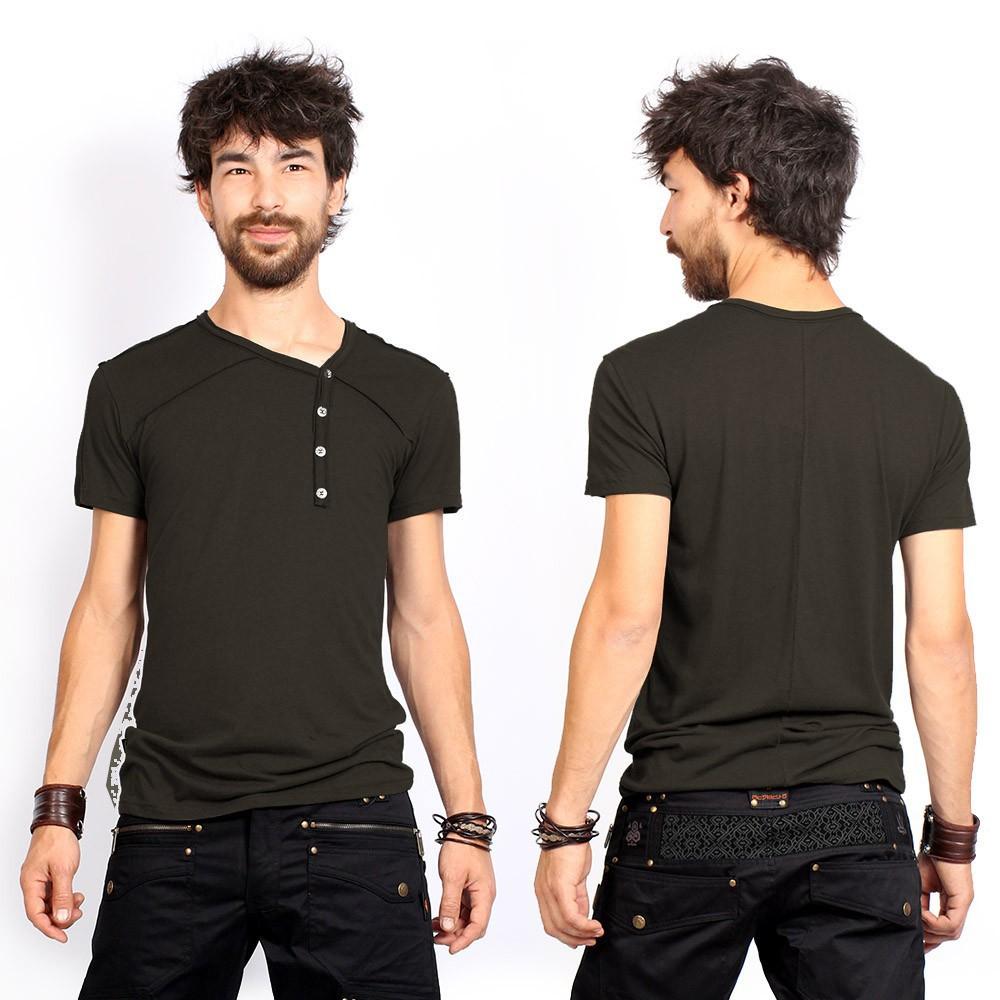 "T-shirt ""Off"", Vert kaki foncé"