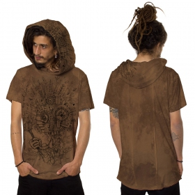 "T-shirt ""Wood Spirit"", Orangé vieilli"