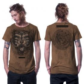 "T-shirt ""Serberus"", Orangé vieilli"
