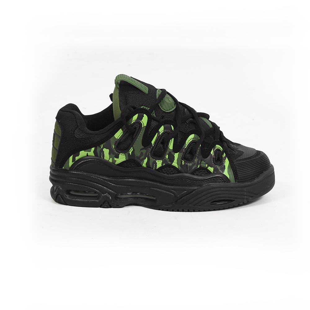 Osiris D3, Noir et détails vert et camouflage
