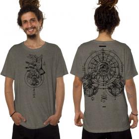 """T-shirt """"Obscure"""", Beige foncé chiné"""