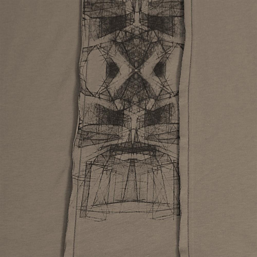 """T-shirt à capuche """"Geomeister"""", Beige foncé"""