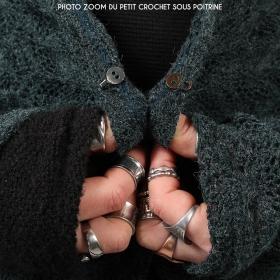 "Gilet en crochet ""Boheme"", Bordeaux"