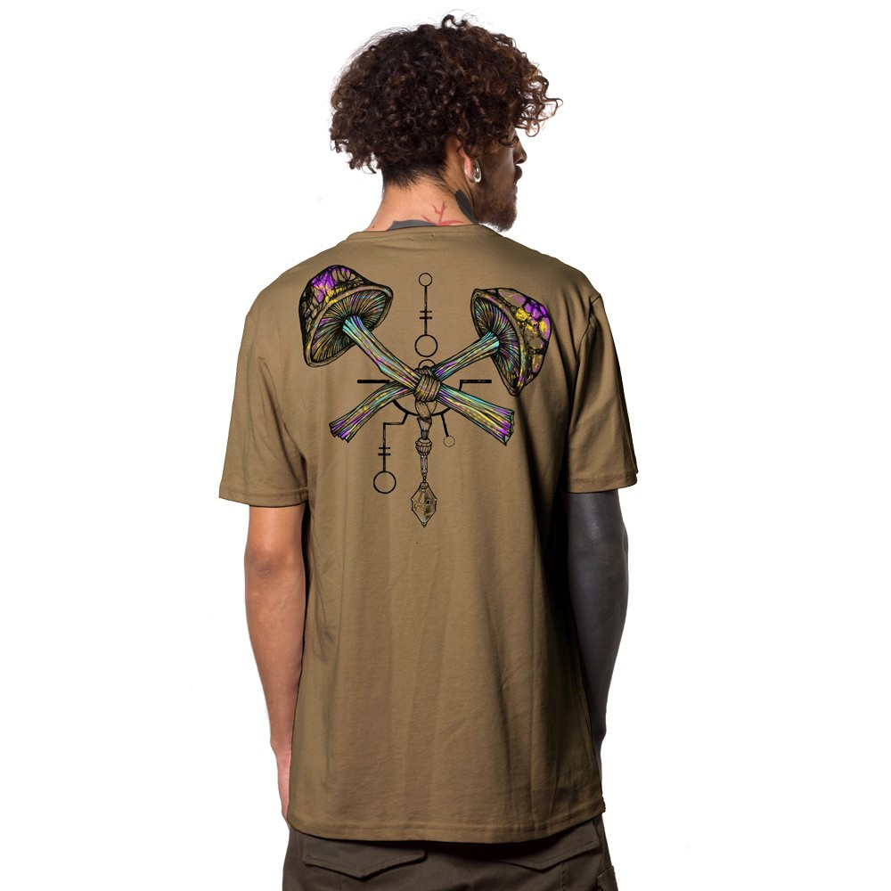 "T-Shirt ""Champignon"", Marron clair"