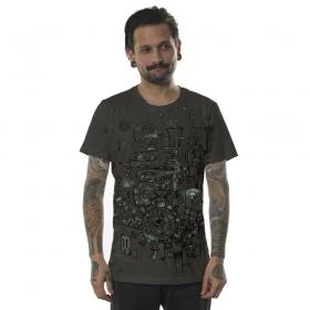 """T-shirt """"Pandalunium"""", Gris foncé"""