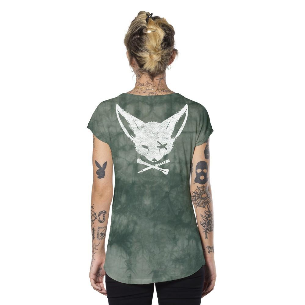 "T-shirt ""Twizy"", Vert d'eau tie dye"