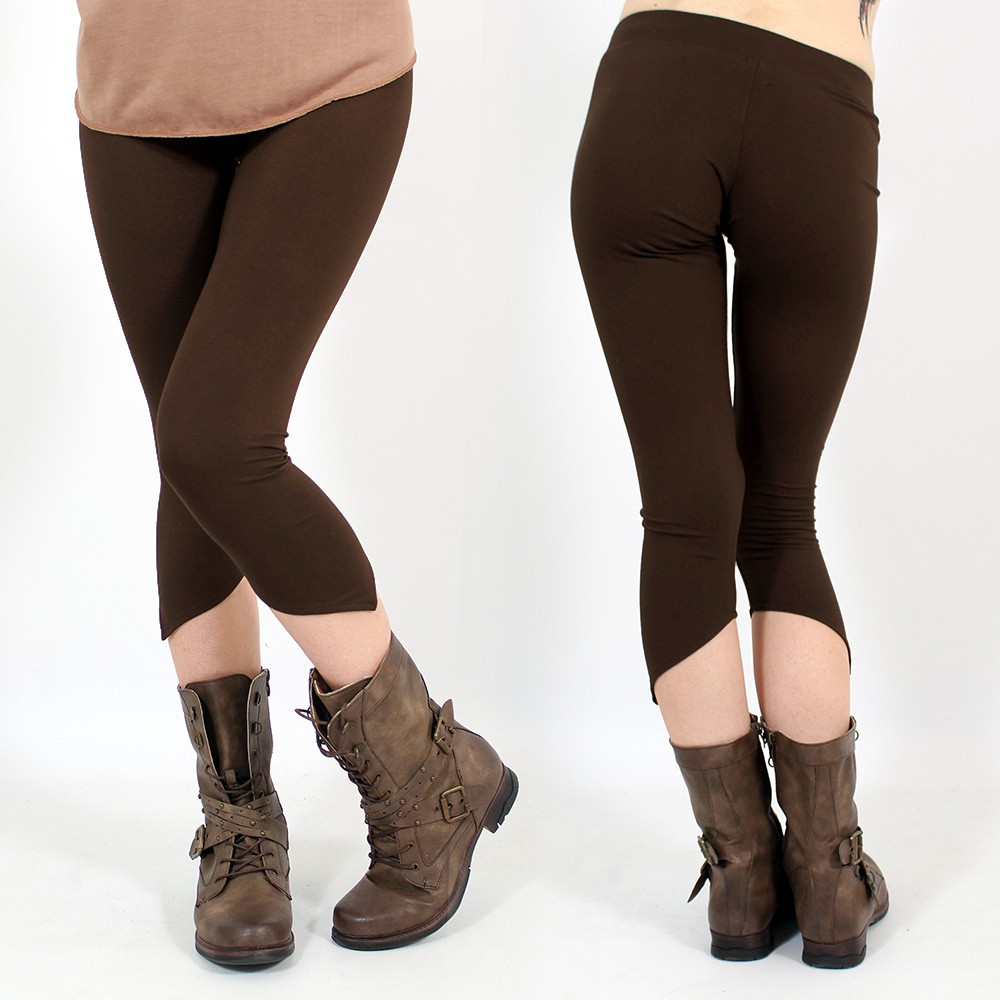 "Leggings ""Shayäa"", Marron"