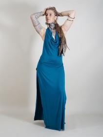 """Robe longue """"Waheeda"""", Bleu pétrole"""