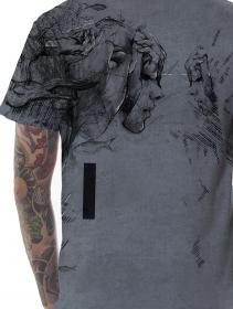 "T-shirt ""Atlantis"", Gris vielli"