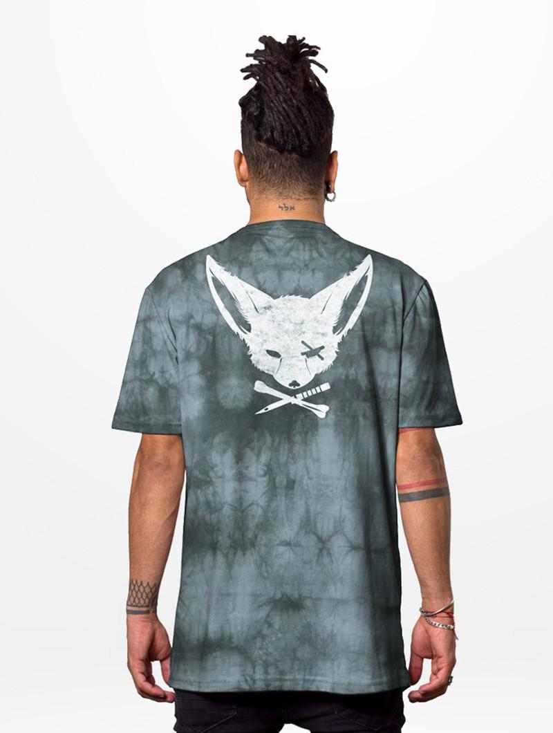 "T-shirt ""Twizy"", Gris tie-dye"