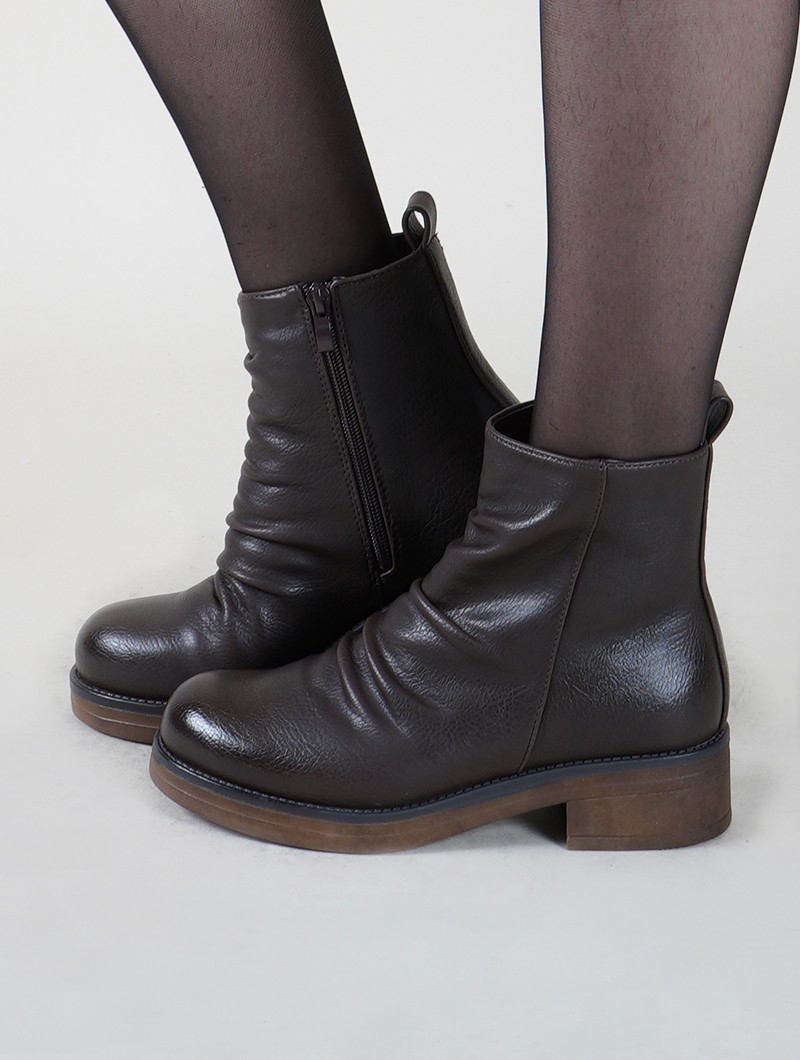 "Bottines ""Keertana"", Marron"