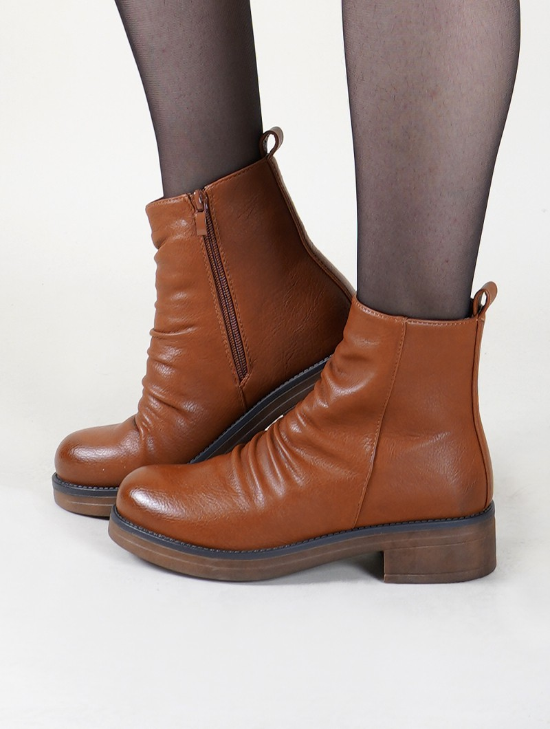"Bottines ""Keertana"", Marron camel"